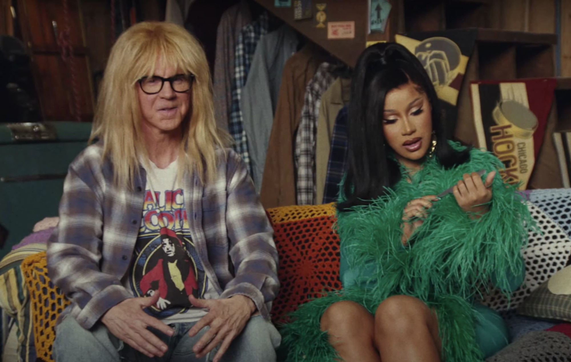 Watch Cardi B team up with Wayne and Garth for second 'Wayne's World' Uber Eats advert - NME