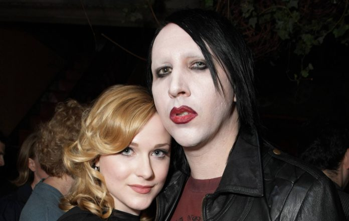 Evan Rachel Wood and Marilyn Manson at the Gala Screening of Sony Pictures 'Across The Universe' during the 2007 Toronto International Film Festival (Photo by Eric Charbonneau/Wireimage)