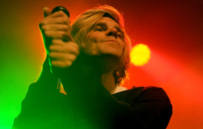Tim Burgess of The Charlatans performs on stage at Columbia Theatre Berlin on February 20, 2018 in Berlin, Germany. (Photo by Martyn Goodacre/Redferns)