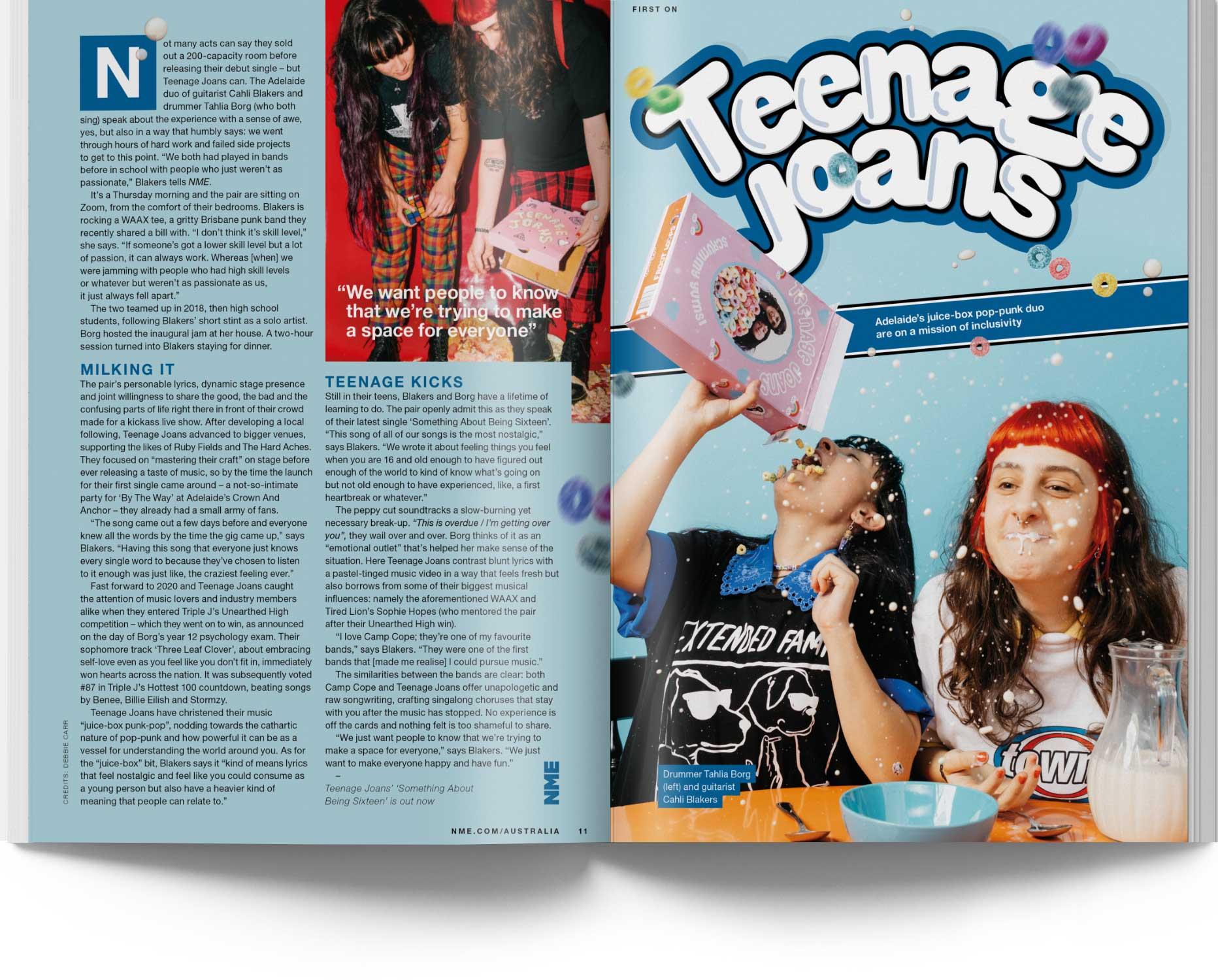 NME Magazine Issue 15 Teenage Joans