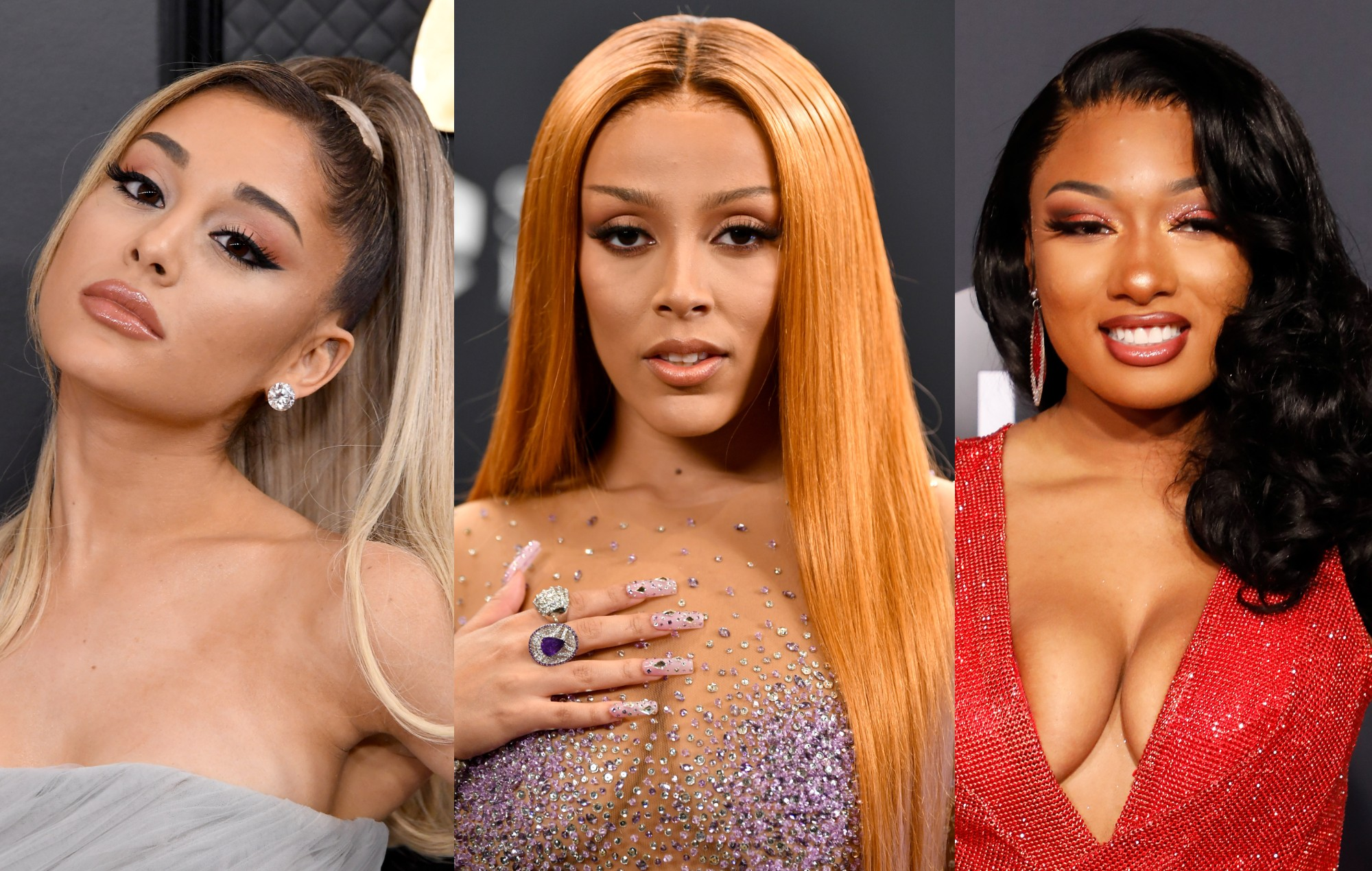 Ariana Grande, Doja Cat and Megan Thee Stallion hint at '34+35' remix video