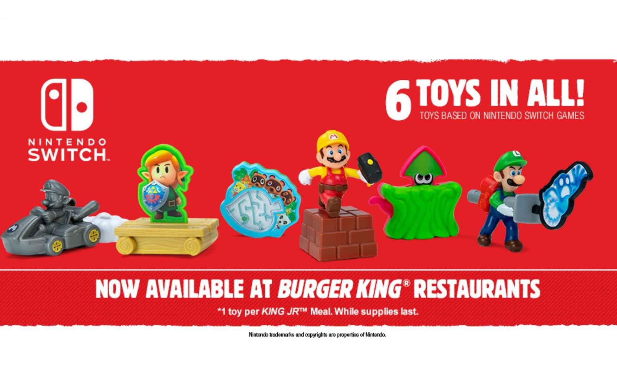 Nintendo Switch Burger King Toys