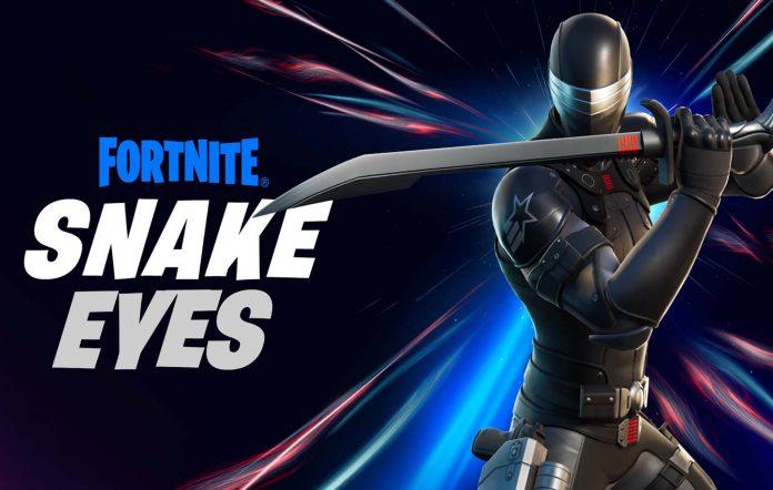 G.I. Joe's Snake Eyes comes to Fortnite. Image Credit: Hasbro
