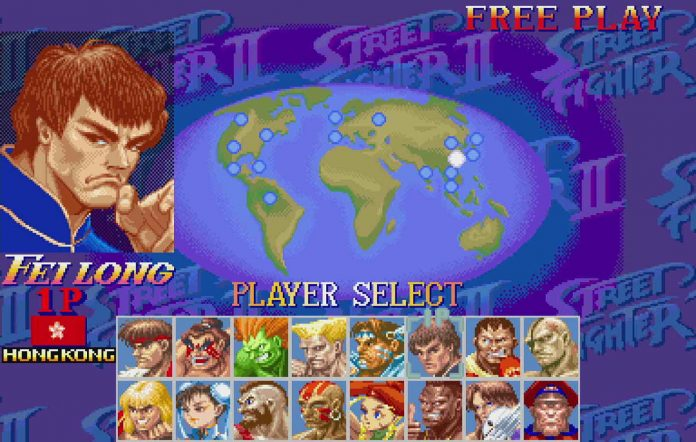 Hong Kong flag removed from Street Fighter II. Image Credit: @pomegd on Twitter