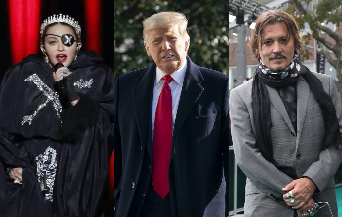 Madonna, Donald Trump, Johnny Depp