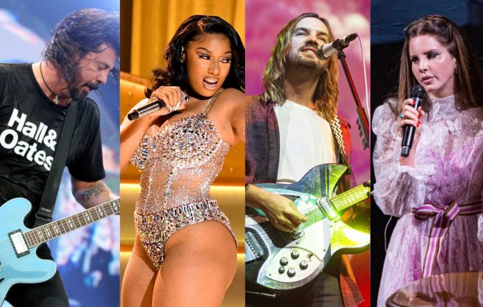 Dave Grohl, Megan Thee Stallion, Kevin Parker of Tame Impala and Lana Del Rey
