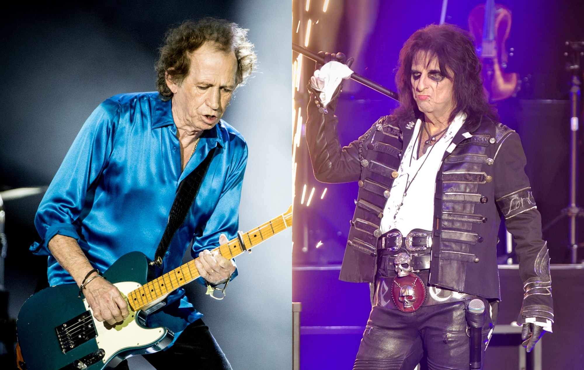 Alice Cooper Keith Richards