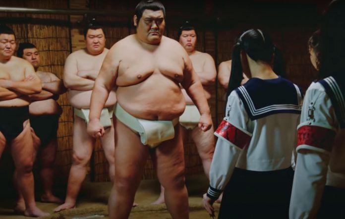 Watch Atarashii Gakko! battle sumo wrestlers in 'Freaks'