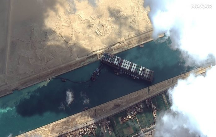 Ever Given ship satellite view
