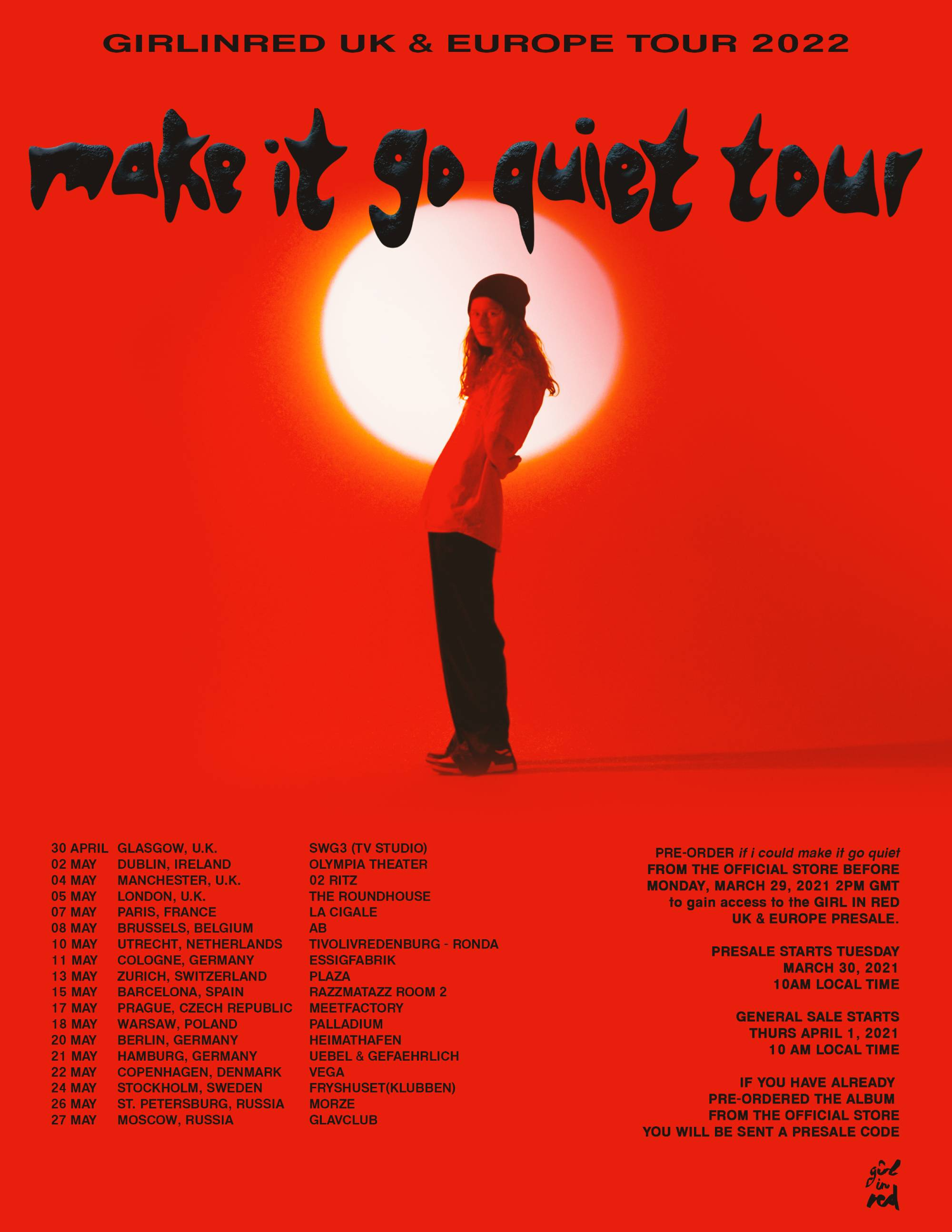 Girl In Red has announced a 2022 UK and European tour