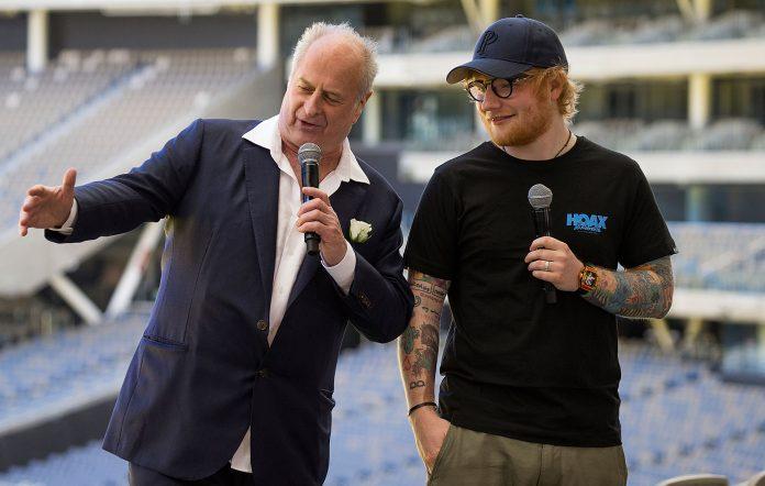 Ed Sheeran and Michael Gudinski