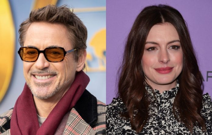 Robert Downey Jr. and Anne Hathaway