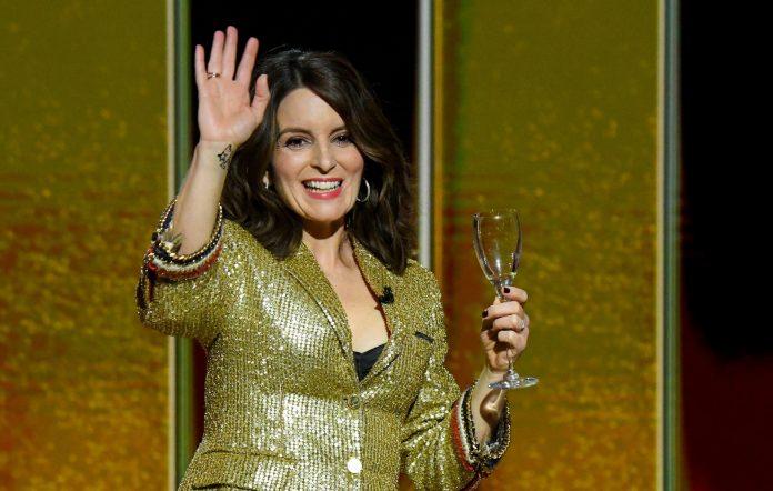 Tina Fey at the Golden Globes 2021