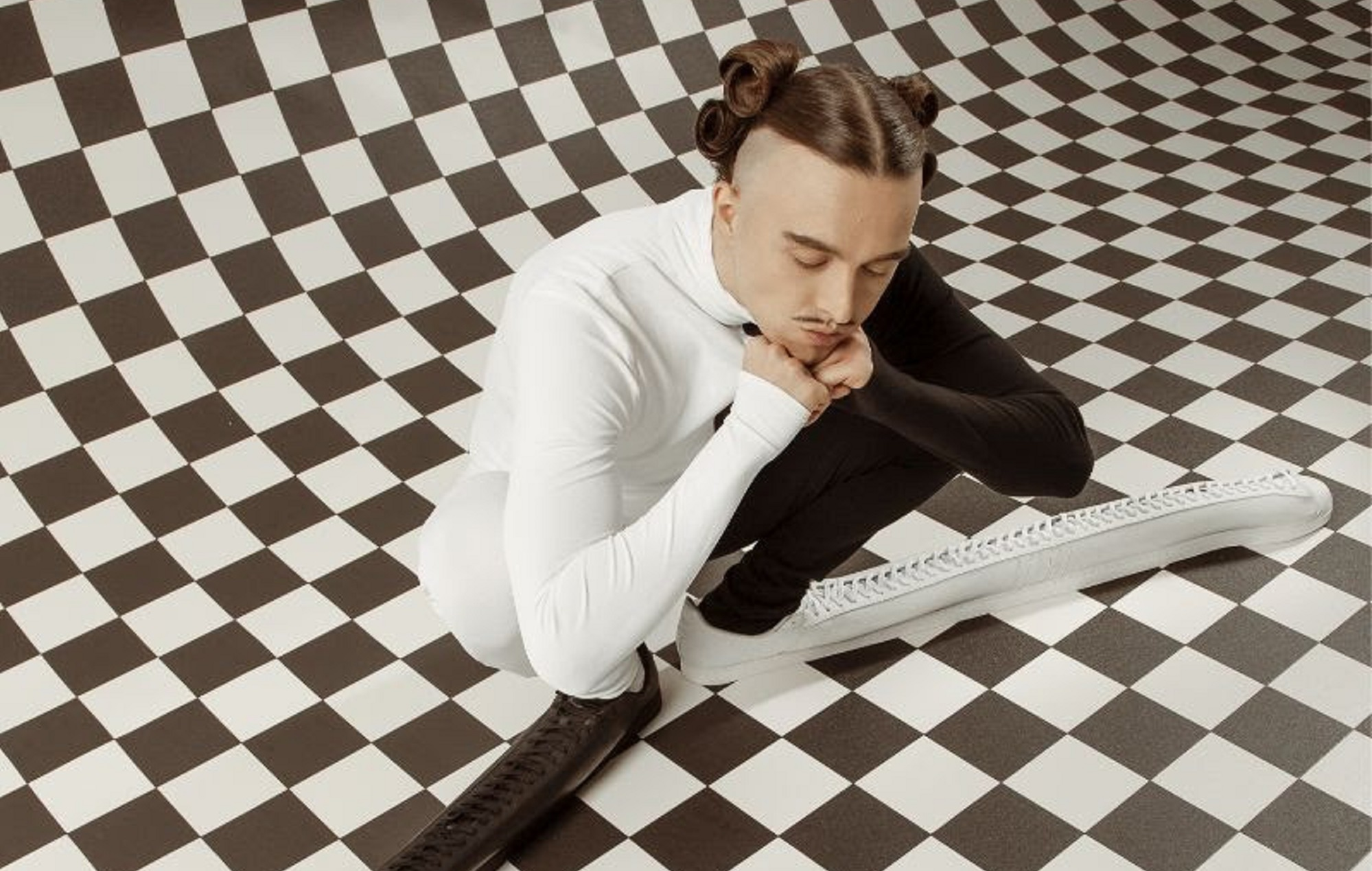 Tommy Cash has collaborated with Adidas on some really long shoes