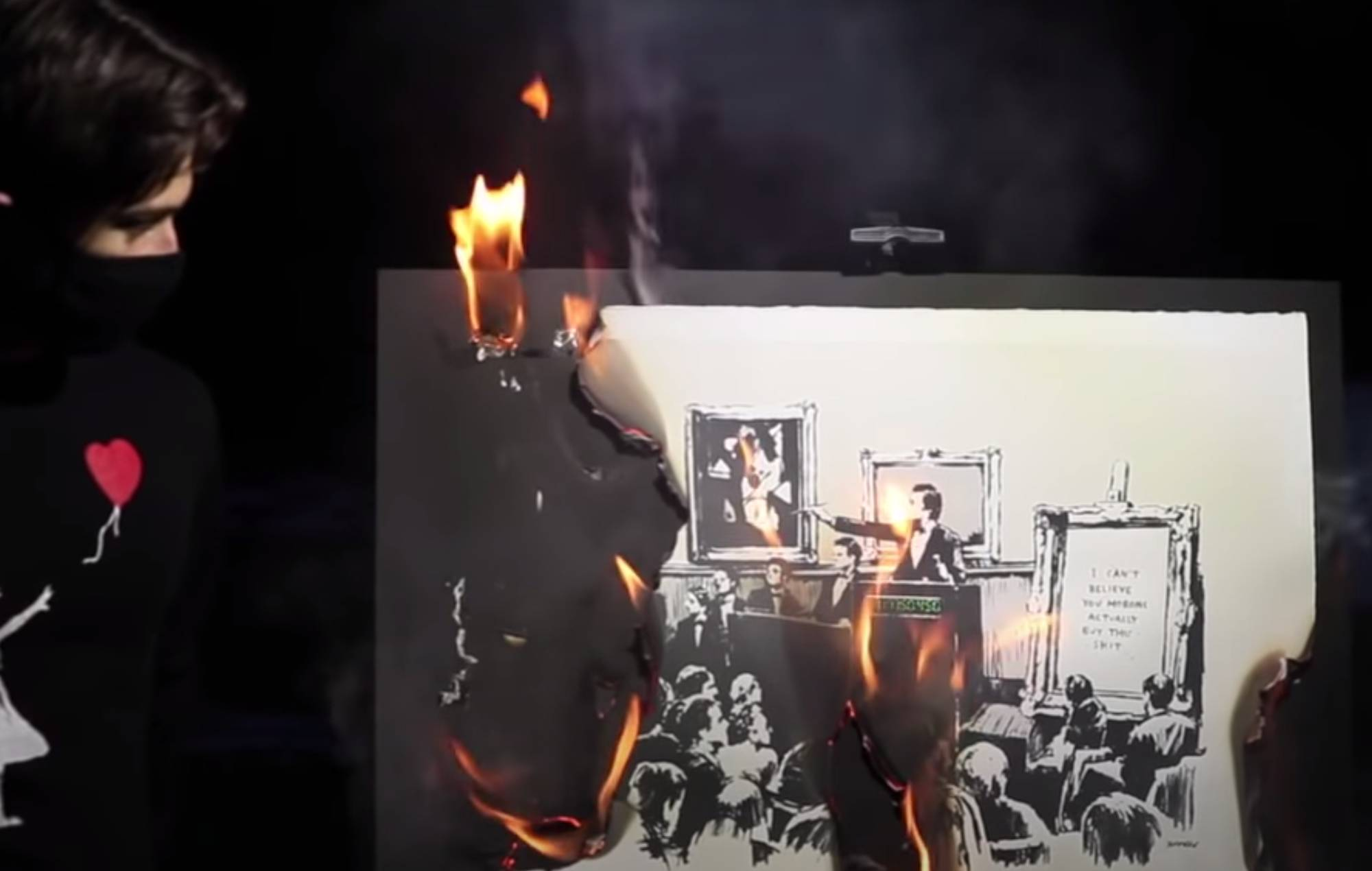 Original Banksy artwork burned by cryptocurrency group and sold as NFT for $382,000