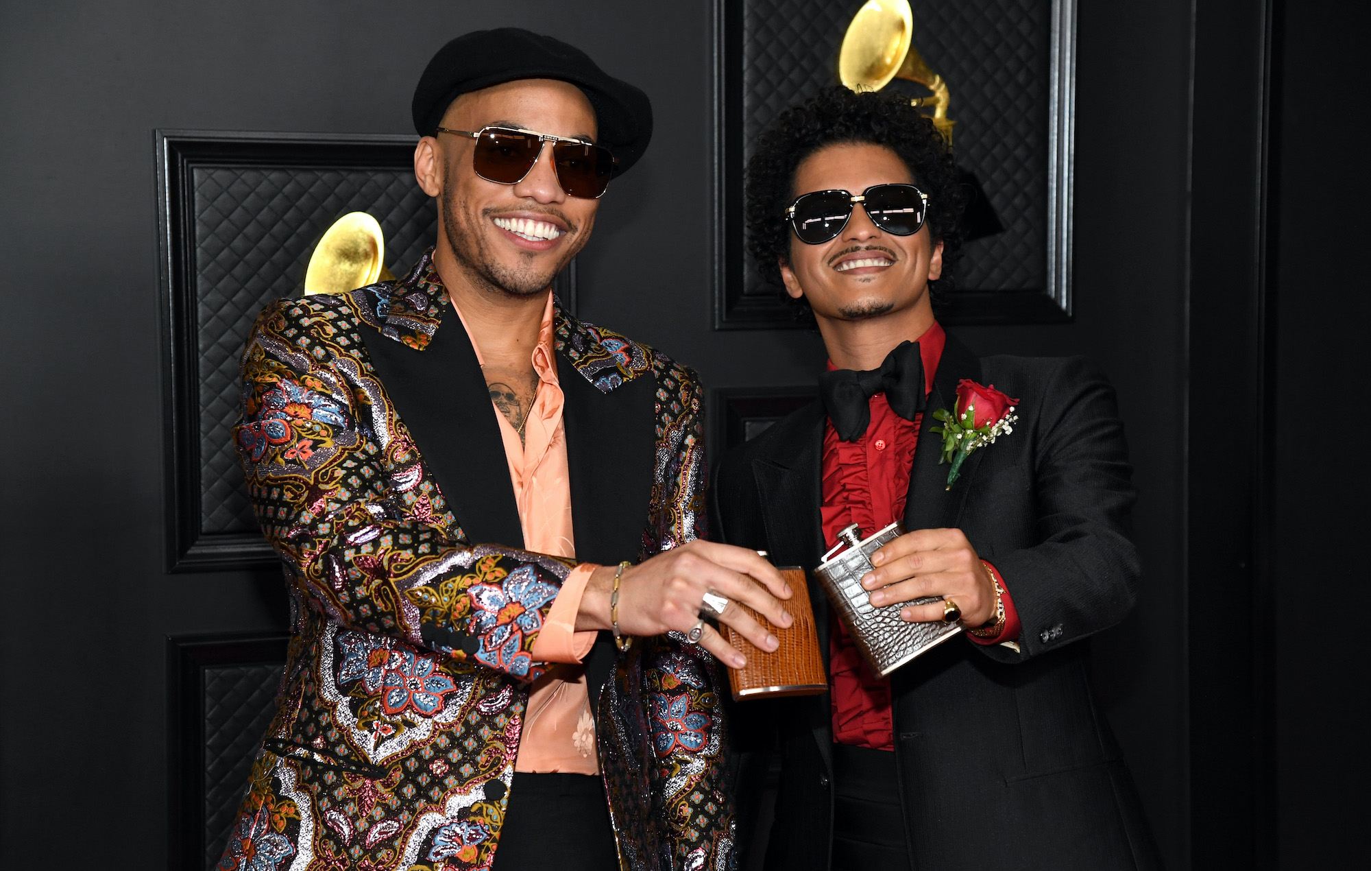Bruno Mars and Anderson .Paak give first live performance as Silk Sonic at Grammys 2021