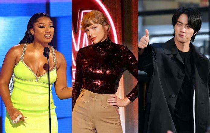BTS, Megan The Stallion, Taylor Swift, Grammys 2021