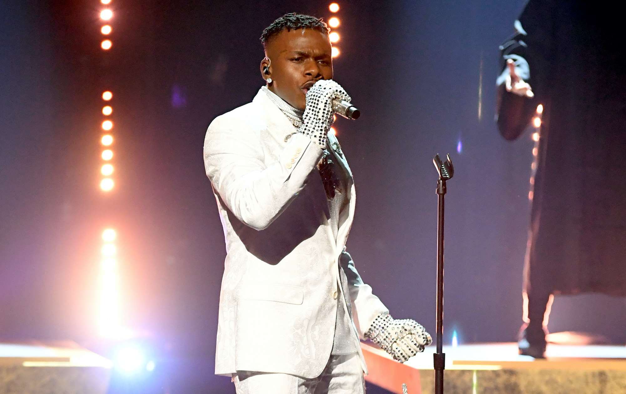 Watch DaBaby's glamorous Grammys performance of 'Rockstar'
