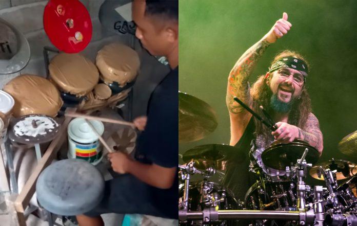 Mike Portnoy sends Indonesian YouTuber Deden Noy new drum kit homemade DIY