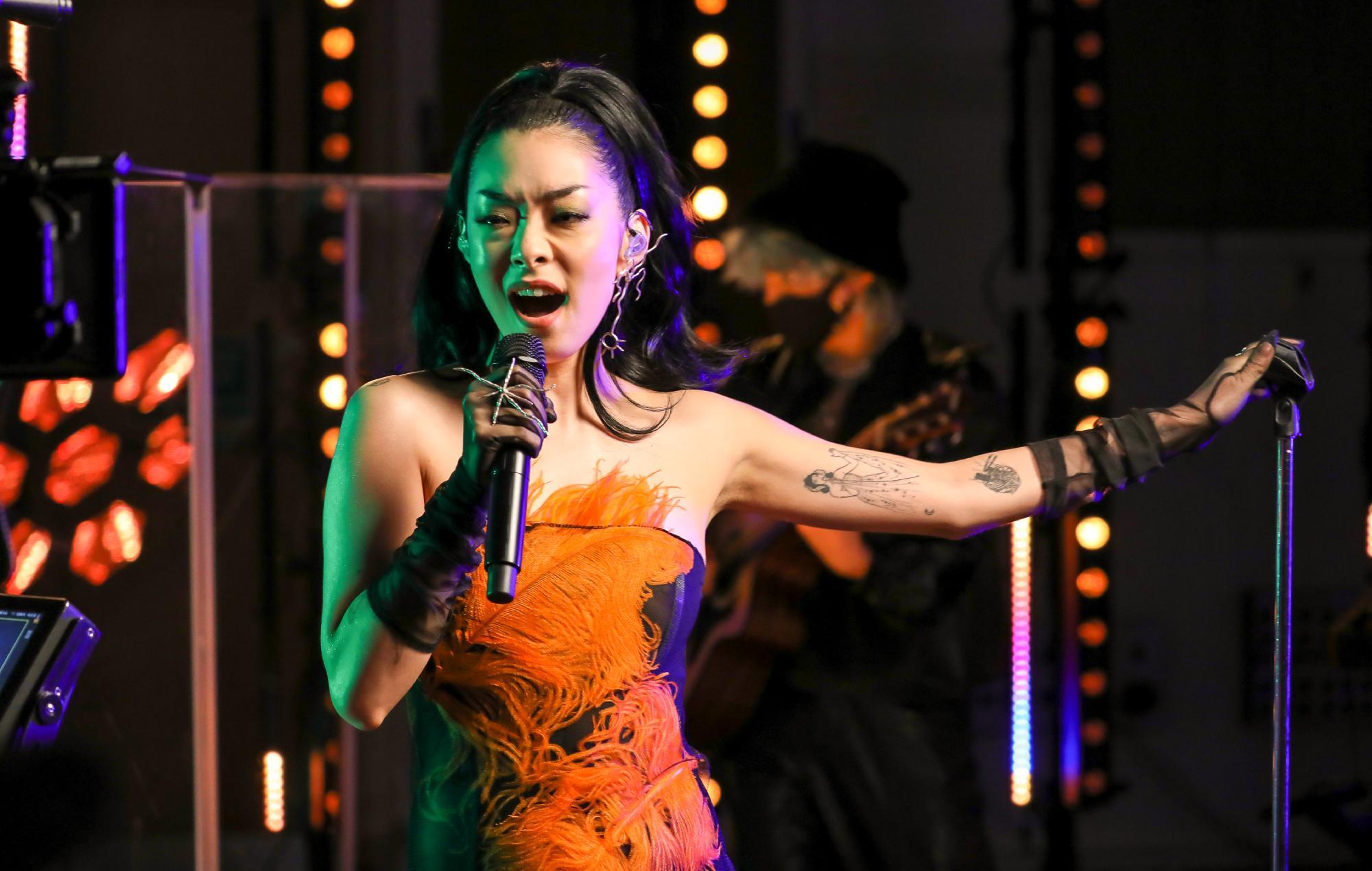 Rina Sawayama performs 'XS' at Abbey Road to celebrate BRITs Rising Star nomination