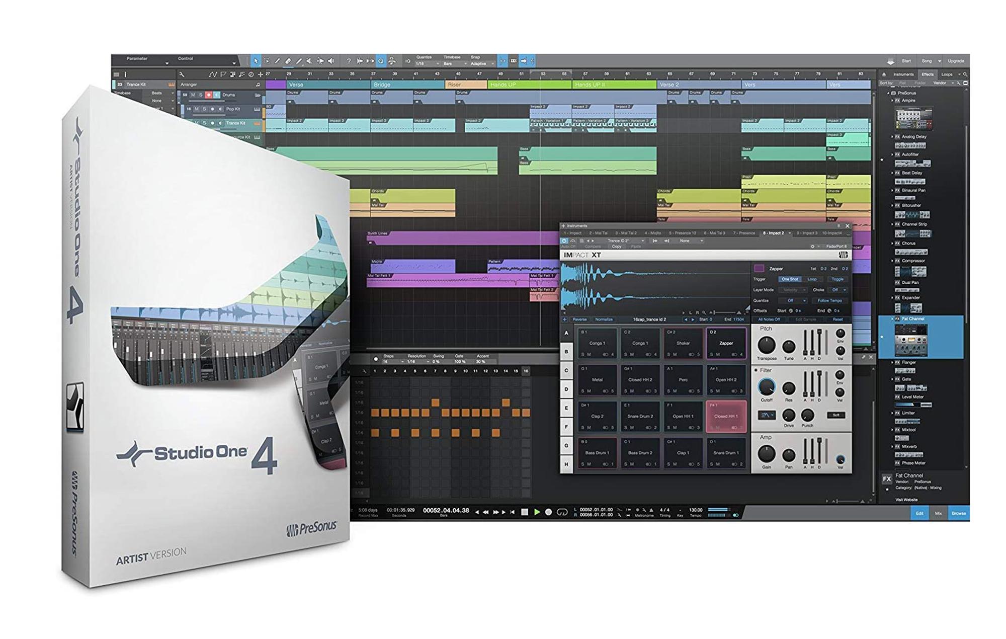 Studio One Artist DAW software