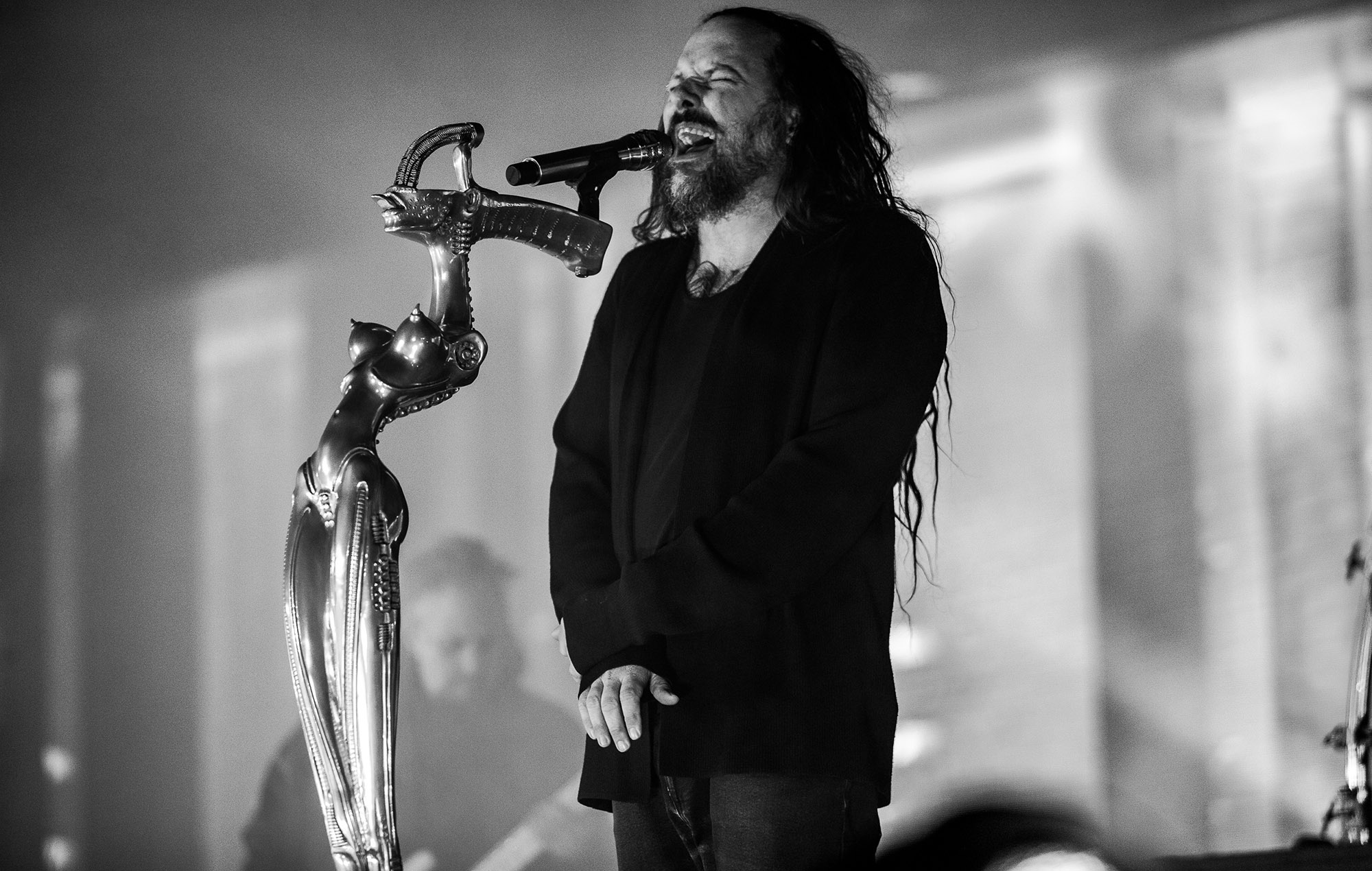 Korn perform at Stranger Things: Drive-Into Experience, Los Angeles (Credit: Steve Thrasher)