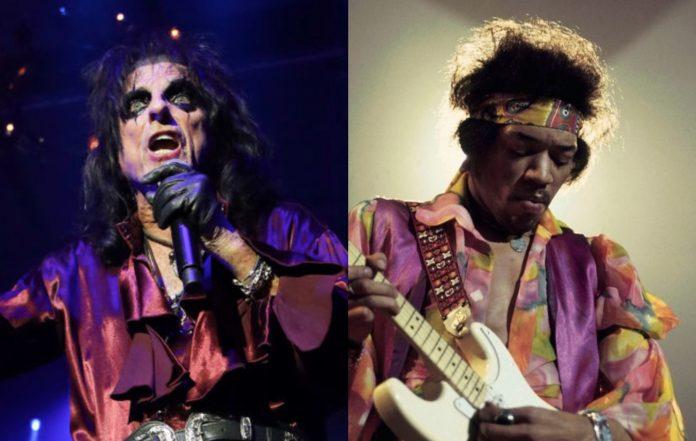 Alice Cooper and Jimi Hendrix
