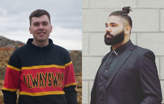 New Dark Mofo cultural advisors Caleb Nichols-Mansell and Dylan Hoskins