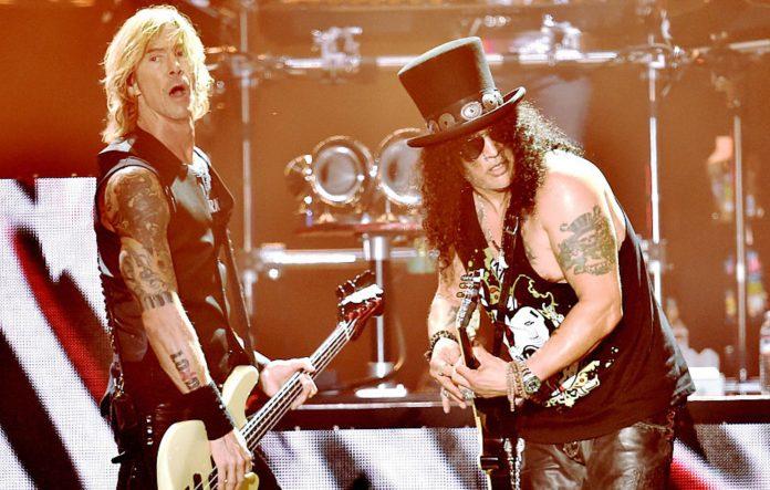 Duff McKagan and Slash of Guns N' Roses