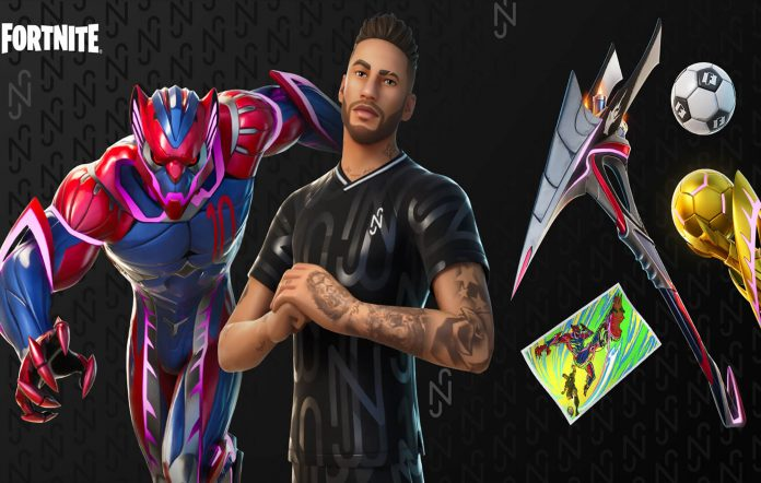 Neymar's skins and items. Image Credit: Fortnite/Epic Games
