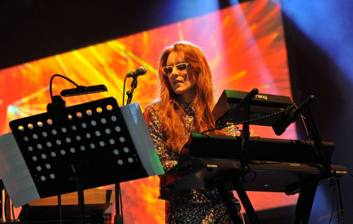 Hannah Peel & Tubular Brass perform on stage during Day 3 of the Womad Festival at Charlton Park on July 29, 2017 in Wiltshire, England. (Photo by C Brandon/Redferns)