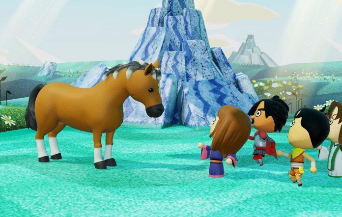 Miitopia Nintendo Switch Characters and Horse