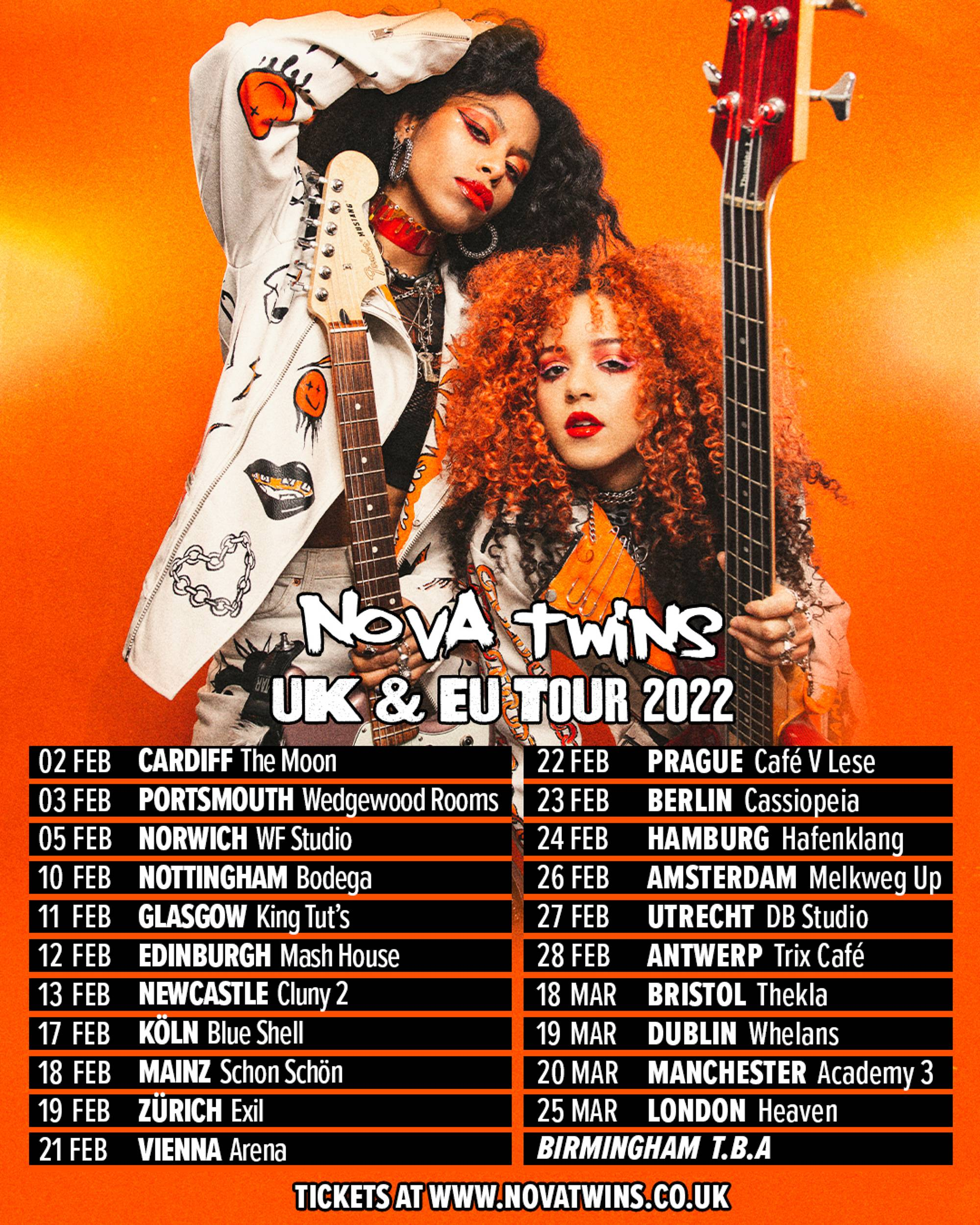 Nova Twins have announced details of a 2022 UK and European tour