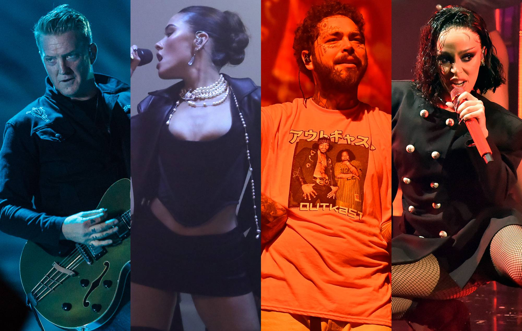 Queens Of The Stone Age, Madison Beer, Post Malone and Doja Cat are among the US acts set to play Reading & Leeds 2021. Credit: Mauricio Santana/Rich Fury/Paras Griffin/Jeff Kravitz/Getty Images)