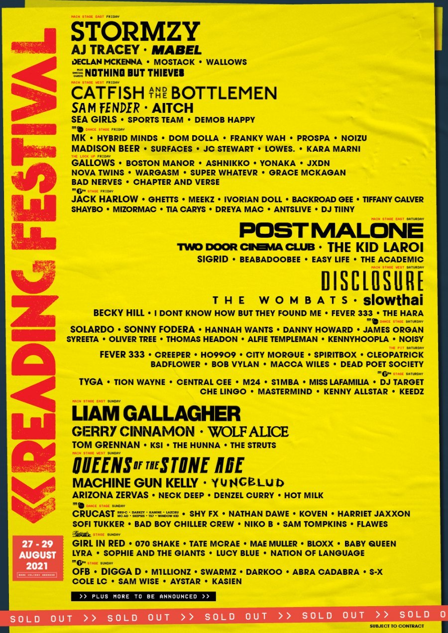 Machine Gun Kelly, Wolf Alice and Sam Fender lead new additions to Reading & Leeds 2021