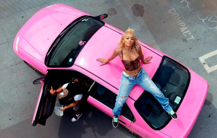 Still from Saweetie's 'Risky' video