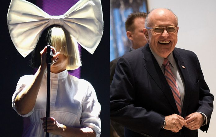 Sia and Rudy Giuliani