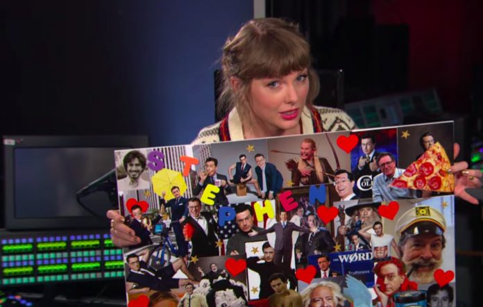 Taylor Swift appears on 'The Late Show with Stephen Colbert