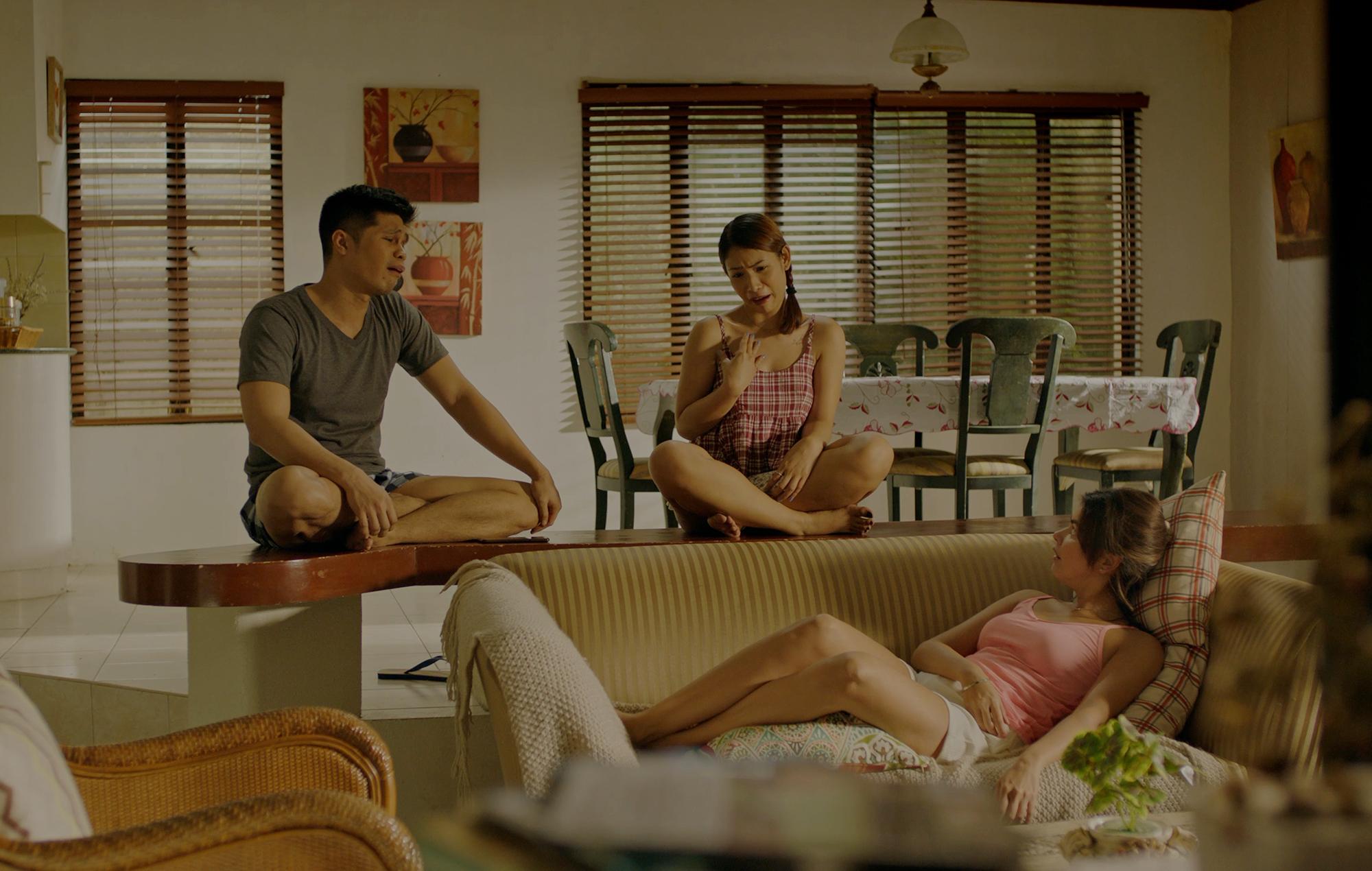 Janine Gutierrez with Victor Anastasio and Yesh Burce in 'Dito At Doon'