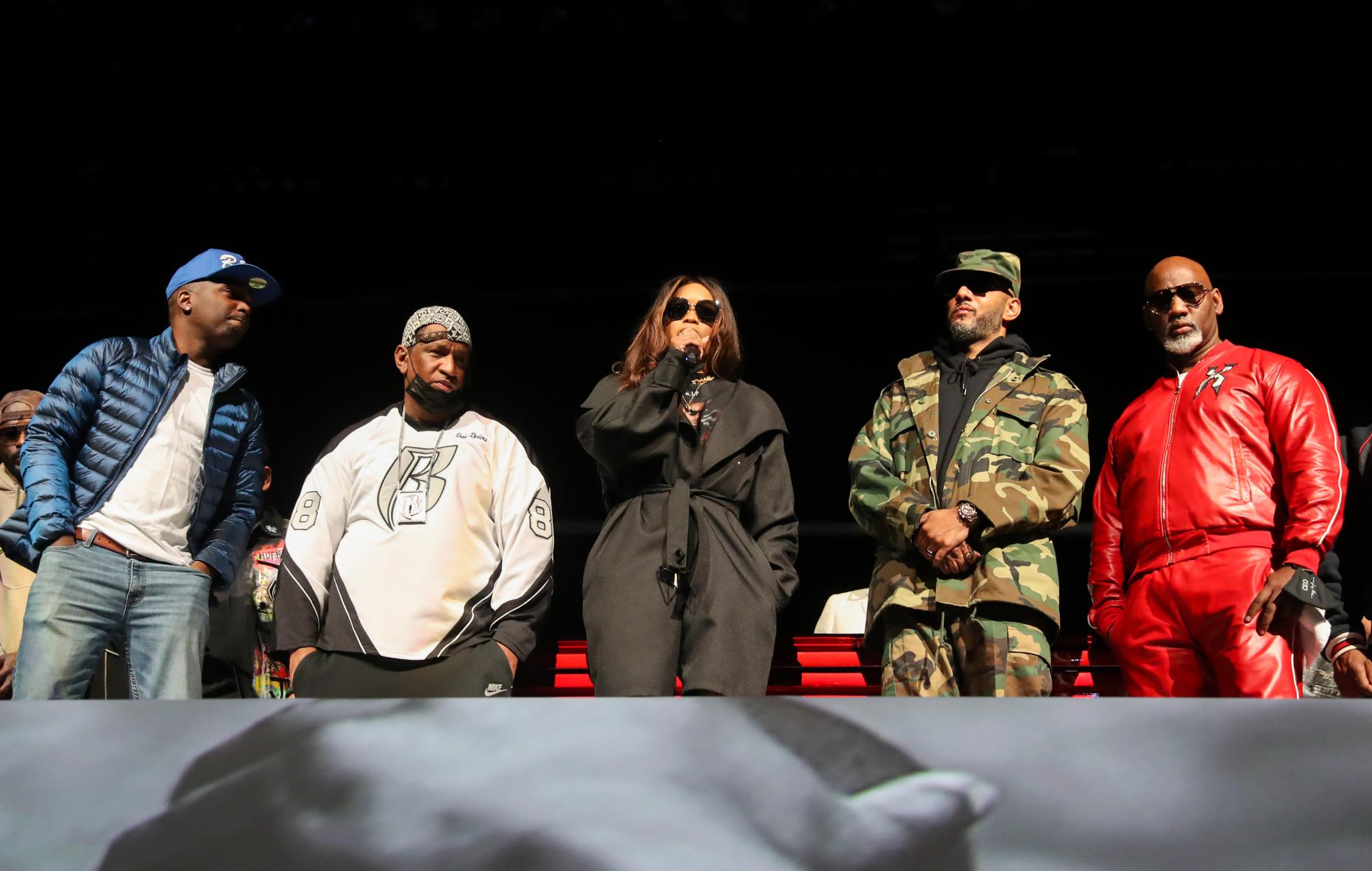 """Nas, Eve and Swizz Beats pay tribute to """"brother"""" DMX at memorial service, daughter raps 'Slippin'"""