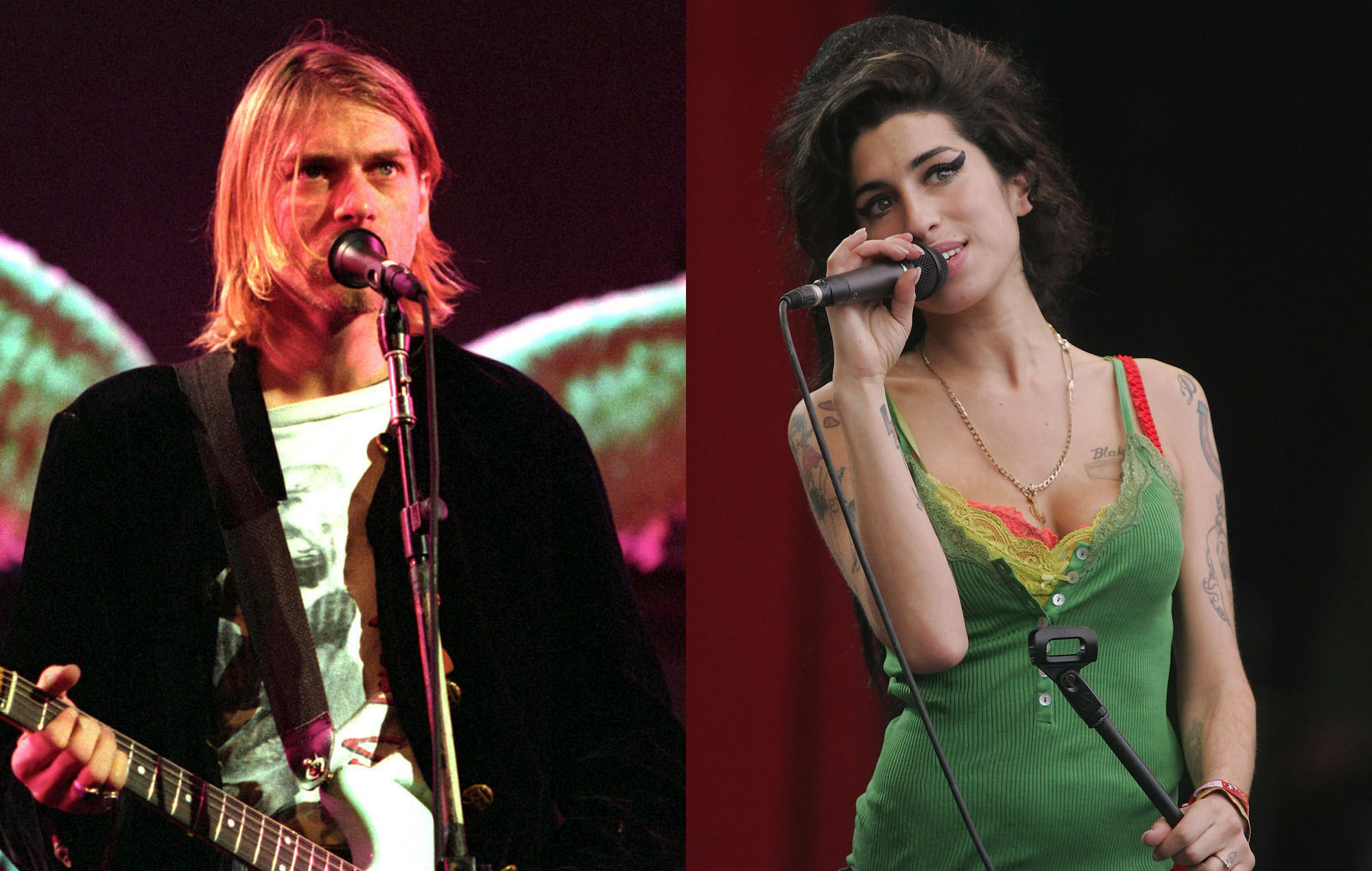 Nirvana Kurt Cobain Amy Winehouse