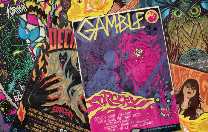 magic the gathering secret lair concert gig posters
