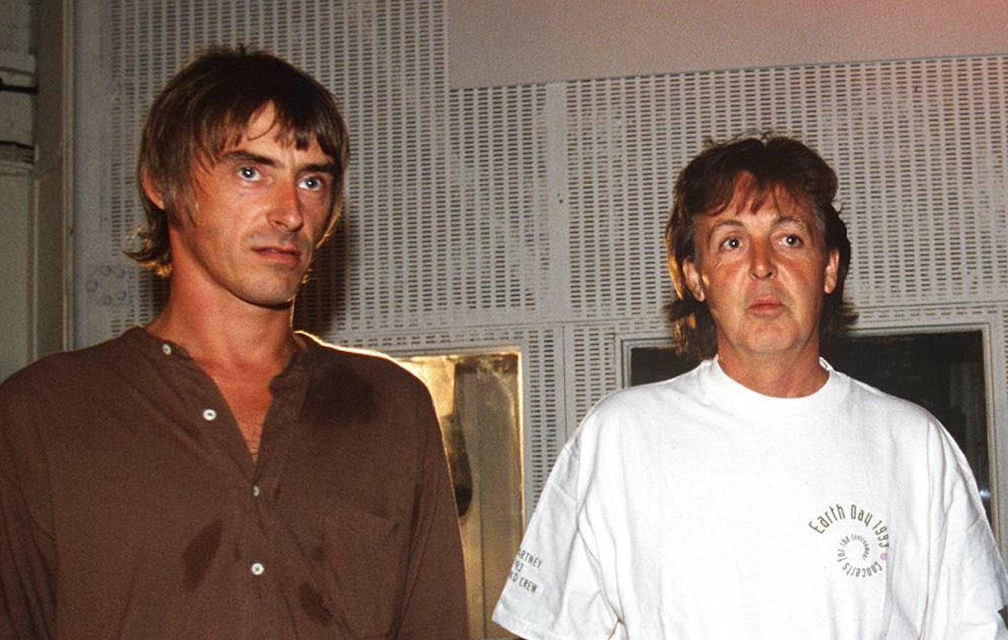 Paul Weller and Paul McCartney