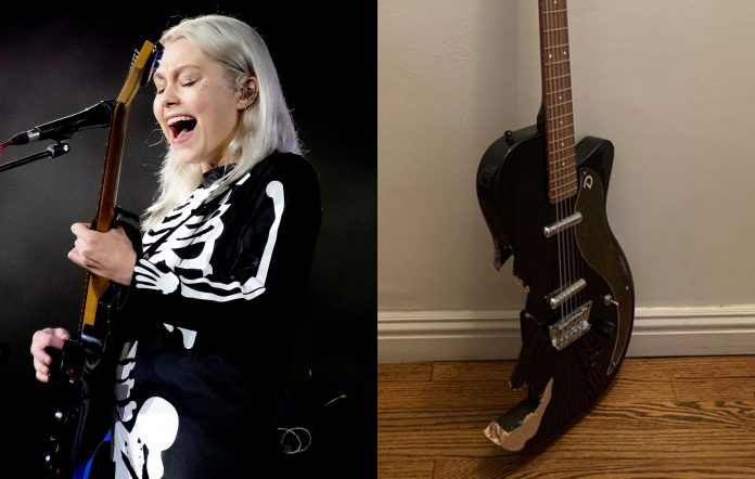 Phoebe Bridgers smashed Saturday Night Live SNL guitar up for auction
