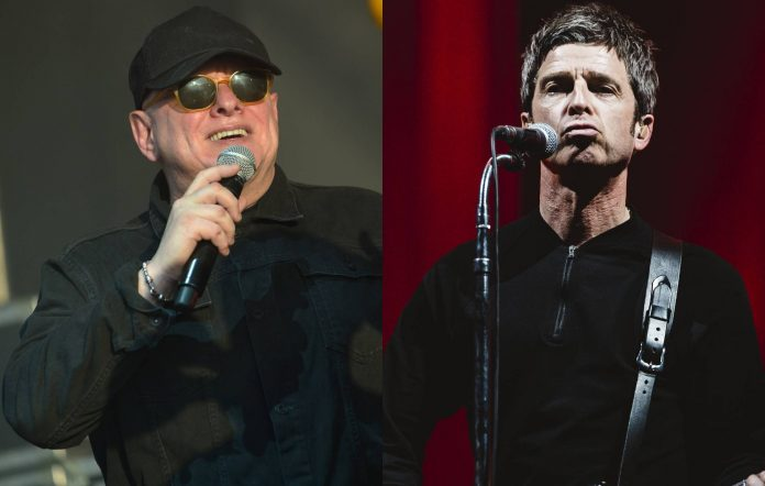 Happy Mondays' Shaun Ryder and Noel Gallagher. Credit: Jim Dyson/Getty Images/Mariano Regidor/Redferns