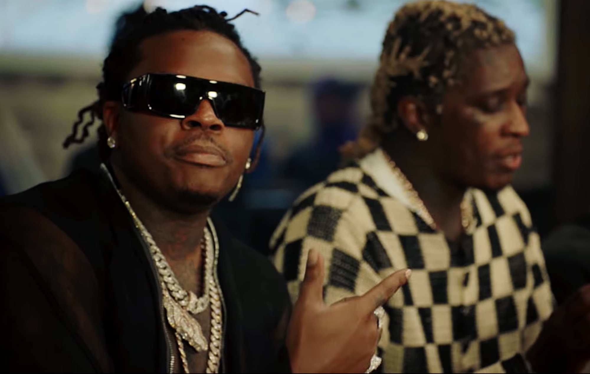 Watch Young Thug and Gunna pay bail for prison inmates in new 'Pay The Fine' video