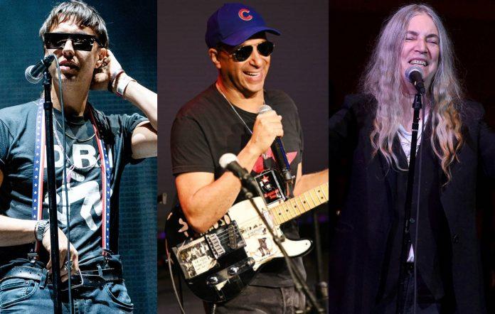 Julian Casablancas, Tom Morello and Patti Smith
