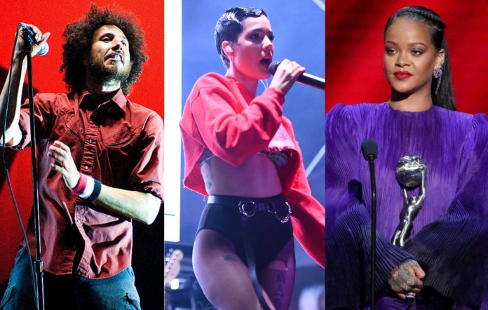 Rage Against The Machine's Zack de la Rocha, Halsey and Rihanna