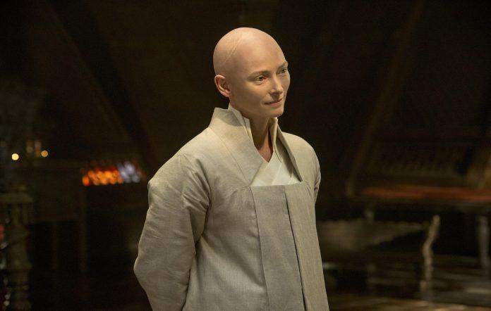 Tilda Swinton as the Ancient One in 'Doctor Strange'