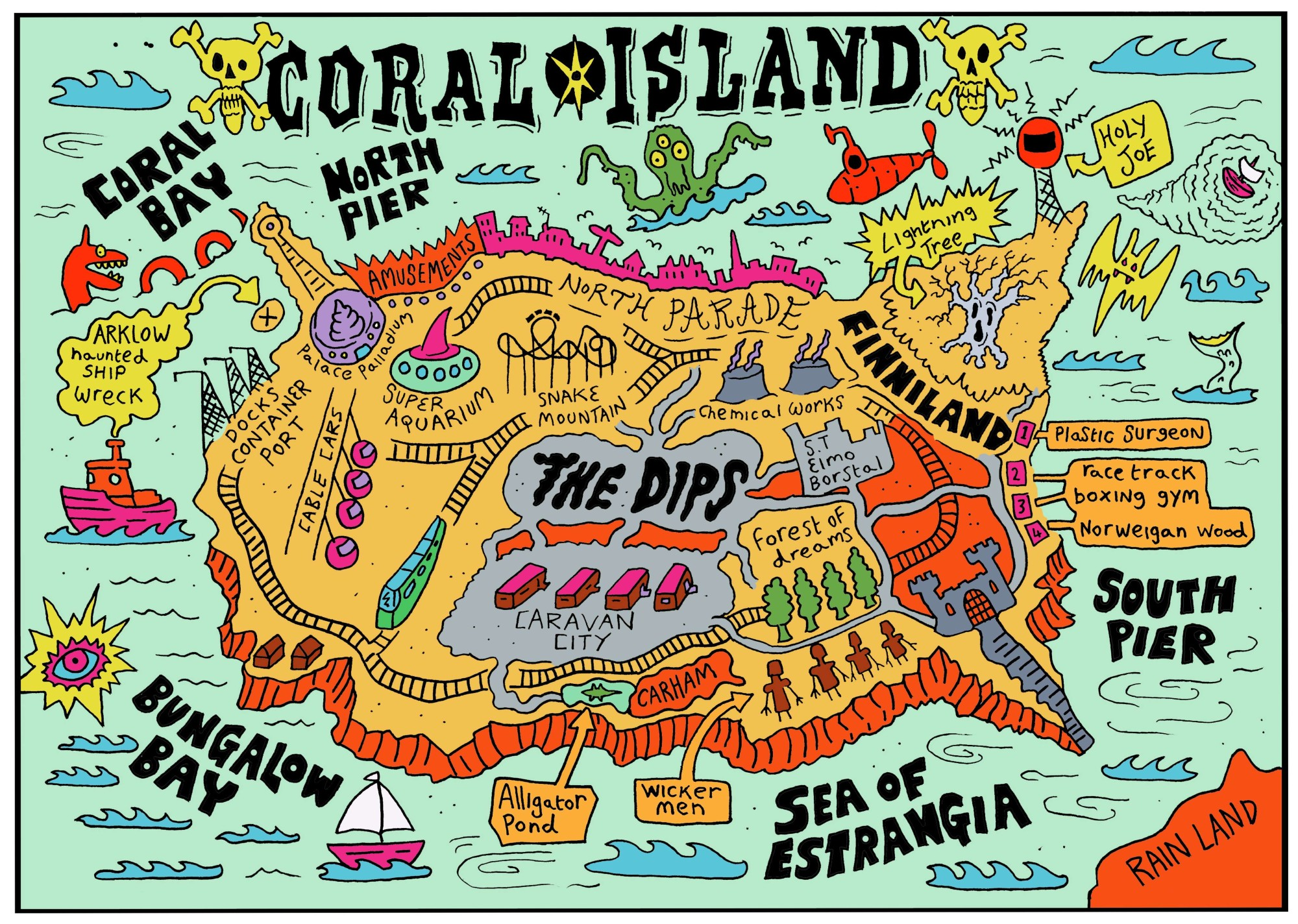 The Coral - Coral Island Map